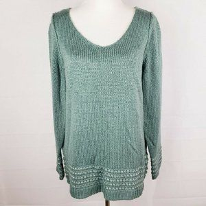 Lauren Conrad Knitted Long Sleeve N-Neck Sweater